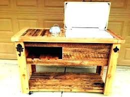 diy wooden ice chest cooler how to build a wooden cooler box standing ice chest image