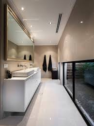 bathroom minimalist design. Mid-sized Trendy Porcelain Tile Bathroom Photo In Perth With A Vessel Sink And Engineered Minimalist Design S