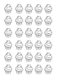 Small Picture cupcakes hello kitty Cup Cakes Coloring pages for adults