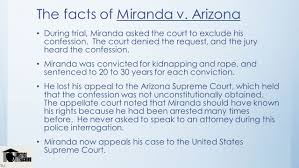 the courts and the constitution ppt video online  the facts of m da v arizona