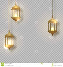 Gold Vintage Luminous Lanterns Arabic Shining Lamps Hanging