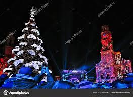 Kaunas Lithuania December 2018 Christmas Tree Lighting