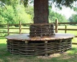 Tree benches outdoor