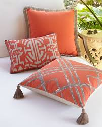Outdoor Pillows & Garden Stools at Neiman Marcus Horchow