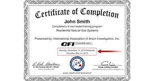 Certificate Of Completion Training Beauteous Fire Investigator News Certificate Refreshes Now Available