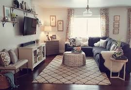 Gray Living Room Unique Decoration