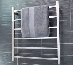 towel bar with towel. Delighful Towel SquareChromeHeatedElectric6BarTowelRack On Towel Bar With S