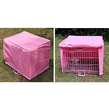 waterproof dustproof pet dog crate cage cover outdoor travel protection pink size medium m