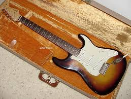 1959 fender stratocaster guitar 1960 fender strat guitar 59 60 a 1959 fender stratocaster guitar original brown tolex case the red on this sunburst has faded a bit but not completely