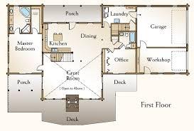 Log Home Design Plan And Kits For Big Sky4 Bedroom Log Cabin Floor Plans