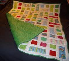 Get Snuggly Soft Quilts with Fleece Backing & Geometric quilt with green fleece back Adamdwight.com