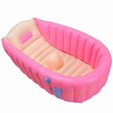 portable baby infant inflatable bath tub blue red children bathing seat bathtub thickening fold kids washbow