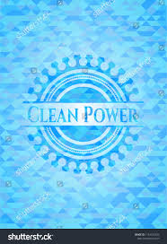 Mosaic Power And Light Clean Power Realistic Light Blue Mosaic Stock Image