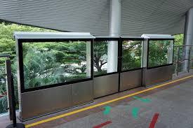 sentosa express half height platform screen doors half height platform screen