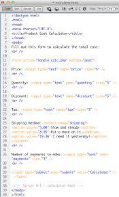 html calculator form chapter 4 exercises ibde online web design courses