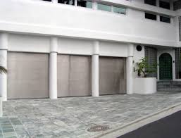 Modern Metal Garage Door Clad Doors Collection Stainless Steel Intended Impressive Design