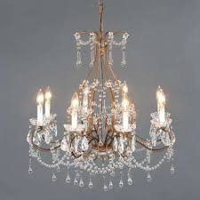 kearney collection 8 light antique gold chandelier