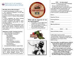 Wood Badge Registration Registration