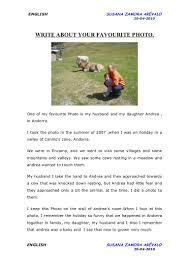 writing about my favourite photo