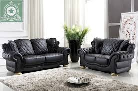 High Quality Living Room Furniture European Modern Leather Sofa R