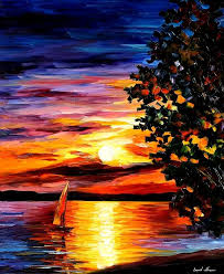 beauty of the night palette knife oil painting on canvas by leonid afremov size