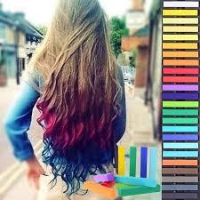 Barevné Křídy Na Vlasy Sada 24 Ks Prodlužování Vlasů A účesy