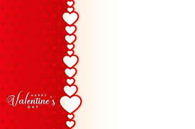 Microsoft Word Hearts Valentines Day Card Template
