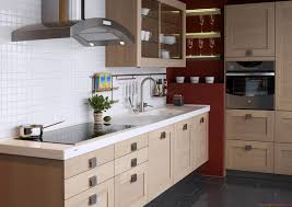 Kitchen:Pretty Tiny Kitchen Storage Idea With Glass Door Cabinet And Modern  Hood Modern Small