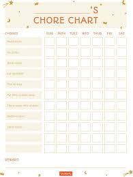 Free Chore List Charts Free Printable Chore Charts For Kids