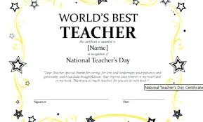 Best Teacher Award Template Artist Flower Best Teacher Award Certificate T 3428