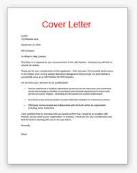 cover cv letter