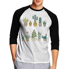 Succulent Size Chart Ki70cny 0 Mens 3 4 Sleeve Crew Neck Tee Shirts Colorful