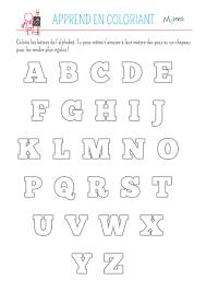 Coloriage De L Alphabet Momes Net