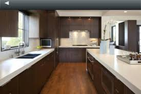 dark quartz countertops cabinets kitchen wood simple gray