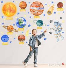 Planety, układ słoneczny ,astronauta ,KOSMOS- naklejka Łódź - Sprzedajemy.pl