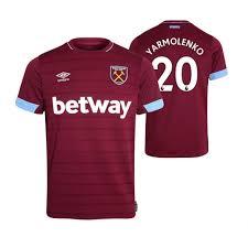 Umbro west ham united 2015/16 football jerseys. Claret Replica 18 19 West Ham United 20 Andriy Yarmolenko Men S Jersey