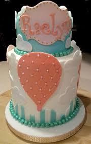 Hot Air Balloon Baby Girl 1st Birthday Cake Cakecentralcom