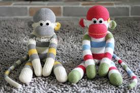 Sock Monkey Pattern Cool Sock Monkey Free Sewing Pattern Craft Passion