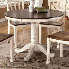 white round pedestal dining table. Whitesburg Two-Tone Round Table With Pedestal Base By Signature Design Ashley White Dining O