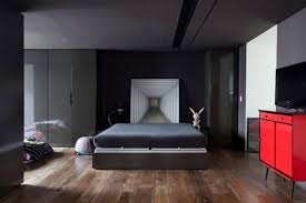 wood floor small bedroom. apartments : antique bedroom apartment design with squaredark grey comfortable bed and brown striped wood floor combine dark painted laminated wall small e