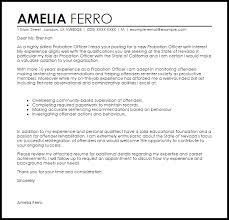 Probation Officer Cover Letter Sample Cover Letter