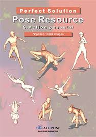 allpose book 9 action poses a for ic cartoon manga anime ilration human body pose drawing techniques allpose book drawing pose resource 24