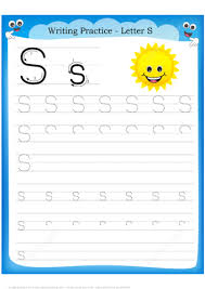 Writing Practice Worksheet Letter S Is For Sun Handwriting Practice Worksheet Free