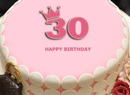 30th Birthday Cake Decorations For Her Cake Image Diyimagesco