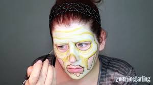 walking dead inspired zombie makeup tutorial by golstarling only facepaint no prosthetics makeup how to videos