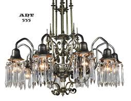 ant 535 solid brass and bronze 10 light gothic crystal chandelier