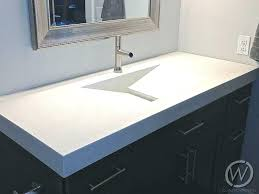Bathroom Countertop Cost Concrete Bathroom Cost Sinks In New Inc Counter  And Vanity Making Concrete Bathroom . Bathroom Countertop Cost ...
