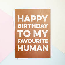 Birthday On Day Card Happy Birthday Favourite Human Card By Parkins Interiors