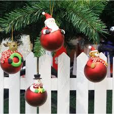 Cartoon Weihnachtsmann Schneemann Christbaumschmuck Elch Bär Weich Keramik Ball Hängen Weihnachten Anhänger Home Weihnachtsdekoration