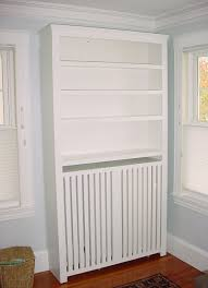 Custom Furniture Radiator Cover Bookcase In White Paint Hebben